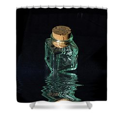Antique Glass Bottle Shower Curtain by David French