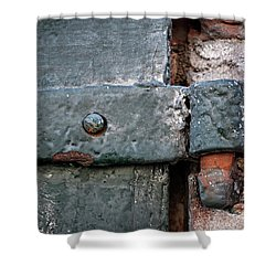 Shower Curtain featuring the photograph Antique Hinge by Elena Elisseeva