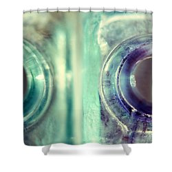 Shower Curtain featuring the photograph Antique Inkwells by Amy Tyler