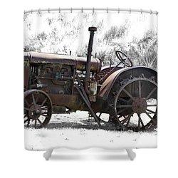 Antique Iron Horse Shower Curtain