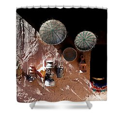 Shower Curtain featuring the photograph Antique Lanterns by Andrew Fare