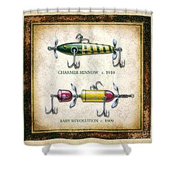 Antique Lure Panel One Shower Curtain
