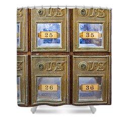 Antique Mailbox Color Shower Curtain