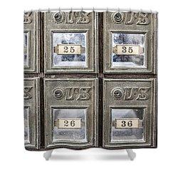 Antique Mailbox Shower Curtain
