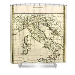 Antique Map Of Italy Shower Curtain by Guillaume Raynal