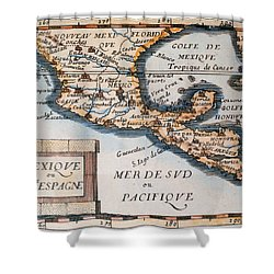 Antique Map Of Mexico Or New Spain Shower Curtain by French School