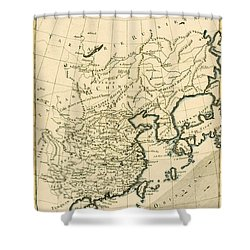 Antique Map The Chinese Empire Shower Curtain by Guillaume Raynal