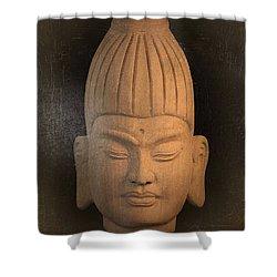 antique oil effect Buddha Burmese Shower Curtain by Terrell Kaucher
