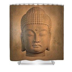 antique oil effect Buddha Korean , Shower Curtain by Terrell Kaucher