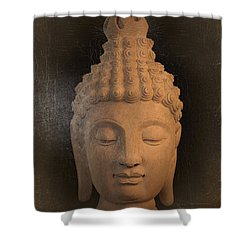 antique oil effect Buddha Sukhothai Shower Curtain by Terrell Kaucher