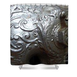 Antique Radiator Close-up Shower Curtain