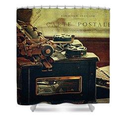 Antique Royal Typewriter Shower Curtain
