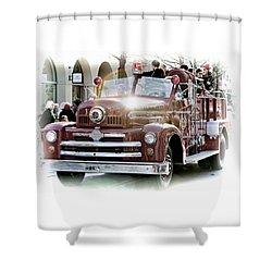Antique Santa Cruz Fire Truck Shower Curtain