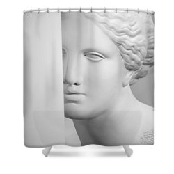 Shower Curtain featuring the photograph Antique Sculpture by Andrey  Godyaykin