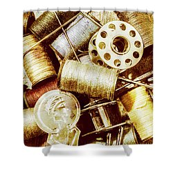 Shower Curtain featuring the photograph Antique Sewing Artwork by Jorgo Photography - Wall Art Gallery
