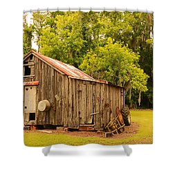 Antique Shed Shower Curtain