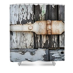 Shower Curtain featuring the photograph Antique Shutter Detail by Elena Elisseeva