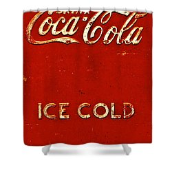 Antique Soda Cooler 6 Shower Curtain by Stephen Anderson