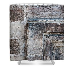 Shower Curtain featuring the photograph Antique Stone Wall Detail by Elena Elisseeva
