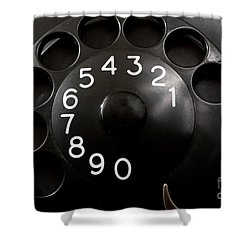 Antique Telephone Dial Shower Curtain by Gunter Nezhoda