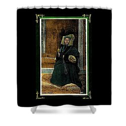 Antique Tibetan Lama Shower Curtain by Peter Gumaer Ogden