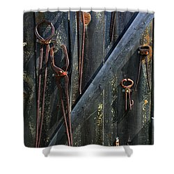 Shower Curtain featuring the photograph Antique Tools by Joanne Coyle