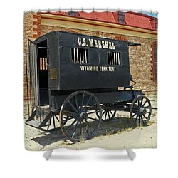 Antique U.s Marshalls Wagon Shower Curtain by Sally Weigand