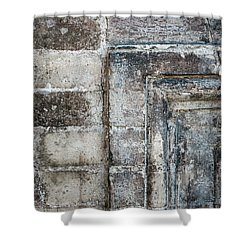 Shower Curtain featuring the photograph Antique Wall Detail by Elena Elisseeva