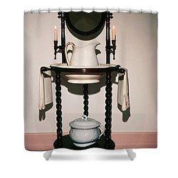 Antique Wash Stand Shower Curtain by Sally Weigand