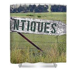 Antiques  Shower Curtain by Juls Adams