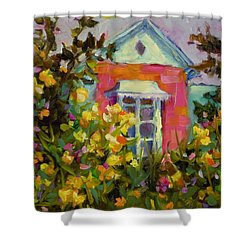 Antoinette's Cottage Shower Curtain by Chris Brandley