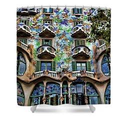 Antoni Gaudi's Casa Batllo Barcelona Spain  Shower Curtain