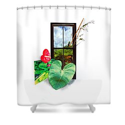 Anthurium 2 Shower Curtain