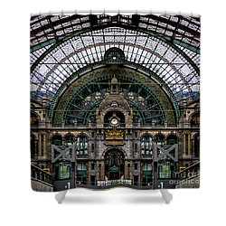 Antwerp Train Terminal Shower Curtain by Doug Sturgess