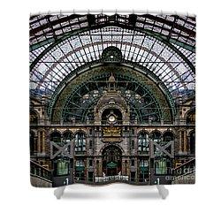 Antwerp Train Terminal Shower Curtain