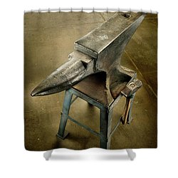 Anvil And Hammer Shower Curtain by YoPedro