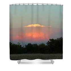 Shower Curtain featuring the digital art Anvil Cloud Over Kirksville, Mo by Jana Russon