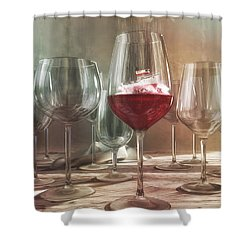 Any Port In A Storm Shower Curtain by Cynthia Decker
