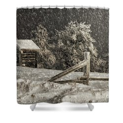 Any Port In A Storm Shower Curtain by Lois Bryan