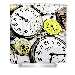 Anybody Really Know What Time It Is Shower Curtain by Pat Cook