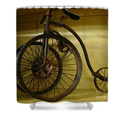 Anyone For A Bike Ride?  Shower Curtain by Rod Jellison