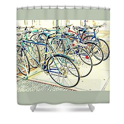 Anyone For A Ride? Shower Curtain by Marcia Lee Jones