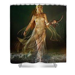 Aoife Shower Curtain by Mary Hood