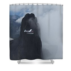 Aop At Black Tusk Shower Curtain
