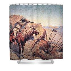 Apache Ambush Shower Curtain