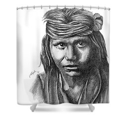 Apache Boy Shower Curtain