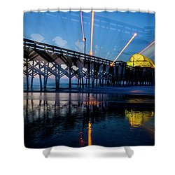 Apache Pier Shower Curtain by David Smith