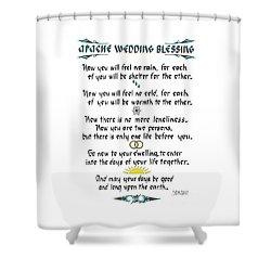 Apache Wedding Blessing Shower Curtain