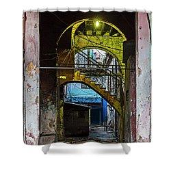 Shower Curtain featuring the photograph Apartment Enrance Havana Cuba Near Calle C by Charles Harden