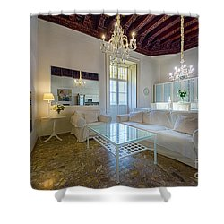 Shower Curtain featuring the photograph Apartment In The Heart Of Cadiz 17th Century by Pablo Avanzini
